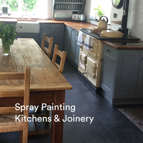 Spray Painting Kitchens & Joinery